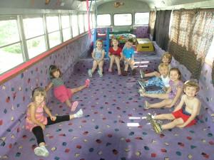 Kids inside Gymbus